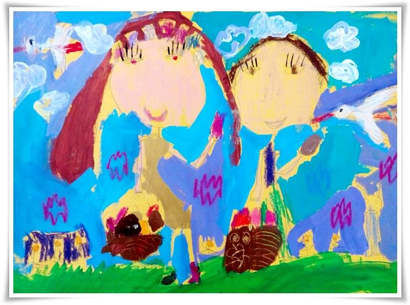 І място, Раздел Изобразително изкуство, възрастова група 5-6 години, Александрина Радославова Цветкова - 4 г., Арт школа Чифлигарови, град Шумен