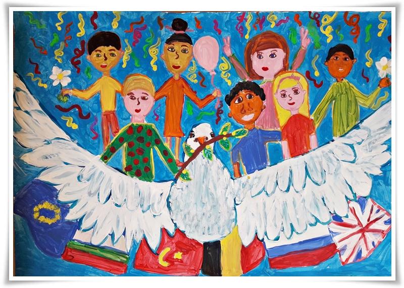 Натали Бодурова на 10 г. е нашият победител в този конкурс. Нейната рисунка е класирана на първо място.