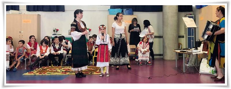 Дюн Латуш 4 - Пее българска народна песен на тържество в БУ