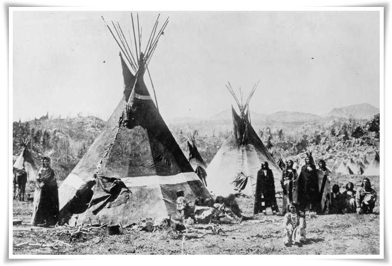Лагер на източни шошони (1870)