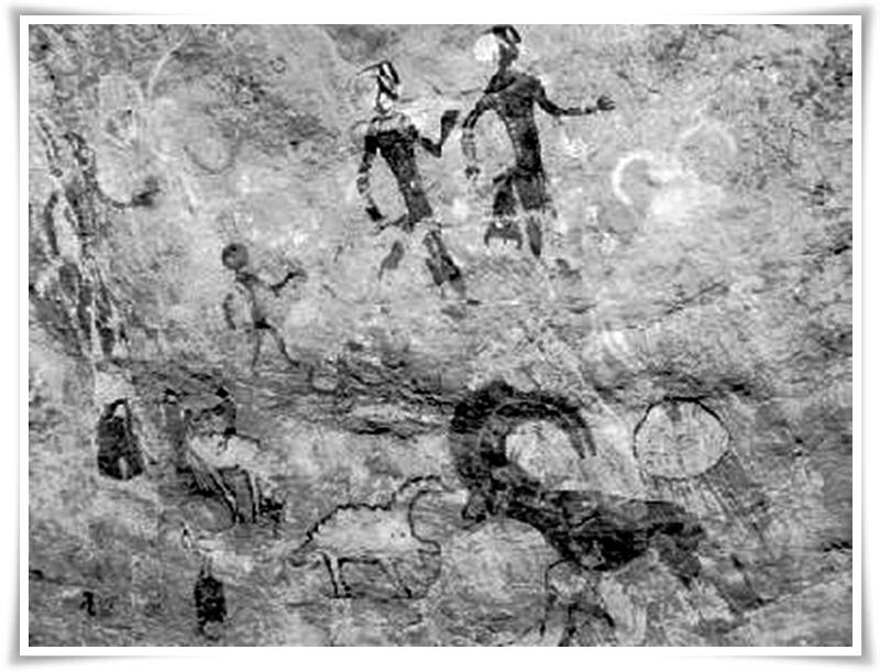 Пещерни рисунки от неолита в Тасили