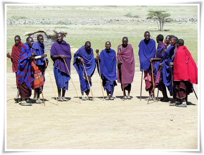 Maasai men in Ngorongoro, Tanzania.