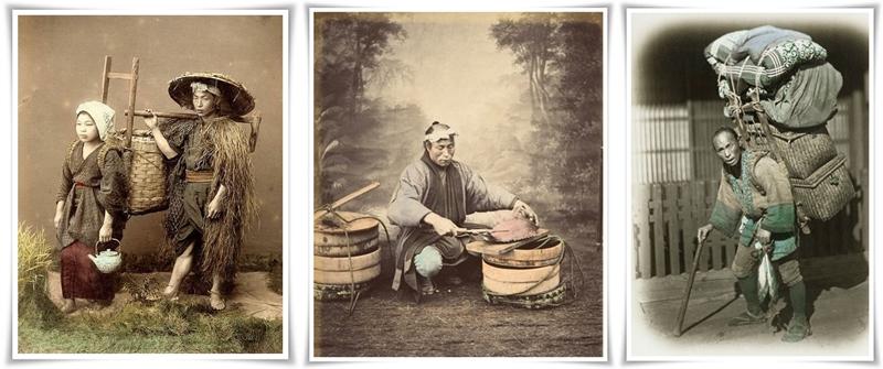 2 Японски фермер с жена си