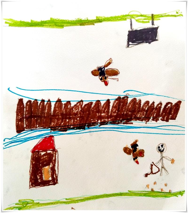Спасяването на гълъбчето, илюстрация